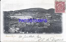 115061 MEXICO LA ESPERANZA TAMAULIPAS MINERAL EL ORO VIEW AERIAL CIRCULATED TO FRANCE  POSTAL POSTCARD - Mexique