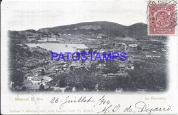 115061 MEXICO LA ESPERANZA TAMAULIPAS MINERAL EL ORO VIEW AERIAL CIRCULATED TO FRANCE  POSTAL POSTCARD - Mexico