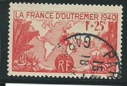 FRANCE: Obl., N° YT 453, Rouge, TB - Francia