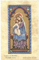 CHROMO BENEDICTINES DE CAEN D'APRES UN PSAUTIER FIN XIIIE SIECLE IMAGE PIEUSE HOLY CARD SANTINI HEILIG PRENTJE - Imágenes Religiosas