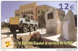 CP-301 TARJETA DEL EJERCITO ESPAÑOL EN BOSNIA DE TIRAJE 50200 Y FECHA 01/06 - España