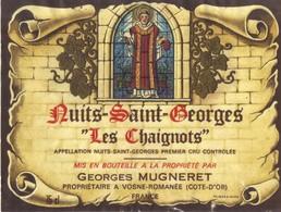 Etiquette Nuits Saint Georges Les Chaignots - Mugneret Georges - Vosne Romanée - Cote D'Or - 21 - Bourgogne