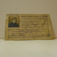 Passe - Season Ticket - Senador Nicolau Mesquita - 1913 - Caminhos De Ferro Do Estado - Cut At Right - Week-en Maandabonnementen