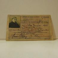 Passe - Season Ticket - Senador Nicolau Mesquita - 1915 - Caminhos De Ferro Do Estado - Week-en Maandabonnementen