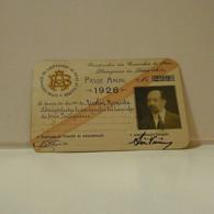 Passe - Season Ticket - Senador Nicolau Mesquita - 1926 - Companhia Dos Caminhos De Ferro Portuguezes Da Beira Alta - Week-en Maandabonnementen