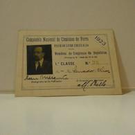 Passe - Season Ticket - Senador Nicolau Mesquita - 1923 - Companhia Nacional De Caminhos De Ferro - Week-en Maandabonnementen