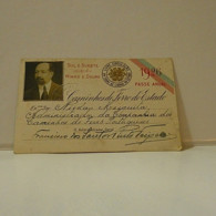 Passe - Season Ticket - Senador Nicolau Mesquita - 1926 - Caminhos De Ferro Do Estado - Livre Circulação Em Todas Linhas - Week-en Maandabonnementen