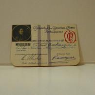 Passe - Season Ticket - Esposa Do Senador Nicolau Mesquita - 1927 - Compª Dos Caminhos De Ferro Portuguezes - Week-en Maandabonnementen