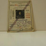 Passe - Season Ticket - Esposa Do Senador Nicolau Mesquita - 1926/27/28 - Compª Dos Caminhos De Ferro Portuguezes - Week-en Maandabonnementen