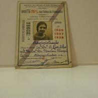 Passe - Season Ticket - Filha Do Senador Nicolau Mesquita - 1926/27/28 - Compª Dos Caminhos De Ferro Portuguezes - Week-en Maandabonnementen