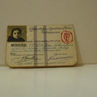 Passe - Season Ticket - Filha Do Senador Nicolau Mesquita - 1927 - Compª Dos Caminhos De Ferro Portuguezes - Week-en Maandabonnementen