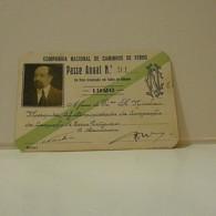 Passe - Season Ticket - Senador Nicolau Mesquita - 1926 - Compª Nacional Dos Caminhos De Ferro - Week-en Maandabonnementen