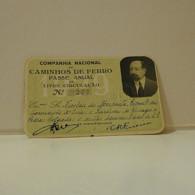 Passe - Season Ticket - Senador Nicolau Mesquita - 1929 - Compª Nacional Dos Caminhos De Ferro - Week-en Maandabonnementen