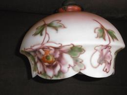 SUSPENSION Ancienne Circa 1900 Art Nouveau. Décor Peint Fleurs. Etat IMPECCABLE - Luminaires