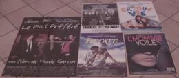 LOT 5 AFFICHES CINEMA FILMS BERNARD GIRAUDEAU DROLES D'OISEAUX CROQUE LA VIE L'HOMME VOILE HECATE FILS PREFERE - Posters