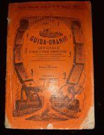 1869 GUIDA ORARIO FERRATE ITALIA SONZOGNO VAPORE MAPPA GUIDE TRANSPORT CHEMIN DE FER BATEAU VAPEUR + PUB CARTE ITALIE - Dépliants Touristiques