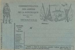 FM 53  / FRANCHISE MILITAIRE  CORRESPONDANCE DES ARMEES DE LA REPUBLIQUE  INFANTERIE  1914 - Militärpostmarken