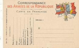 FM  81  / FRANCHISE MILITAIRE   CORRESPONDANCE DES ARMEES  DE LA REPUBLIQUE - Franchise Militaire (timbres)