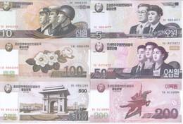 North Korea 10 Note Set 2009 COPY - Korea, North