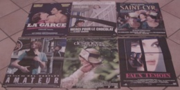 6 AFFICHES CINEMA FILMS HUPPERT GARCE AMATEUR MERCI CHOCOLAT SAINT-CYR FAUX TEMOIN DESTINEES SENTIMENTALES - Posters