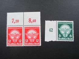 3. Reich 1939 Reichsberufswettkampf Nr. 689 / 690 Randstücke! ** / Postfrisch Katalogwert 42€ ++ - Deutschland