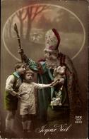 Cp Frohe Weihnachten, Weihnachtsmann, Noel, Kinder, Geschenke, Teddy - Noël