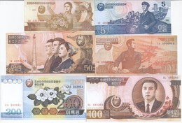 North Korea 9 Note Set 1992 COPY - Korea, North