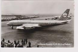Vintage Rppc KLM K.L.M Royal Dutch Airlines Electra L-188 & Douglas Dc-8 @ Schiphol Airport No 2 - 1919-1938: Between Wars