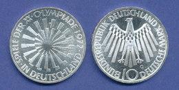 Olympische Spiele 1972, 10DM Silber-Gedenkmünze Spirale DEUTSCHLAND  -  G - [ 7] 1949-… : RFA - Rep. Fed. Tedesca