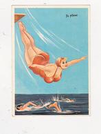 """CPSM Femme Grosse Femme Ronde Baigneuse Plongeon """"Je Plane"""" Bain Bath Illustrateur L. CARRIERE N° 50334 (2 Scans) - Carrière, Louis"""