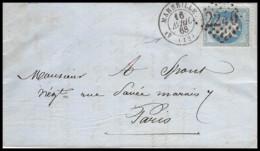 6713 Lac Lettre Entete Brunet Exposition Universelle 1867 Bouches Du Rhone Marseille N°29 GC 2240 Napoléon Paris - Storia Postale
