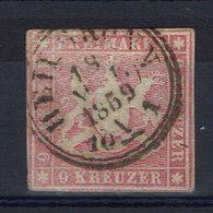 Allemagne - 1857 - N° 9 Oblitéré - Avec Fil De Soie Orange - B/TB - - Wuerttemberg