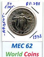 MEC 62 - / Portugal Republica / 50 Escudos 1972 / Argent  / VI Centenario Da Publicacao De Os Lusiadas / - RP.388 - Portugal