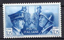 ITALIE (Royaume) - 1941 - N° 437 - 1 L. 25 C. Bleu - (Fraternité D'armes Germano-italienne) - 1900-44 Victor Emmanuel III.