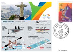 DZ Algeria 1747 Olympics Games Rio Brazil 2016 Jeux Olympiques Brésil Canoe Kanu Canoë - Kano