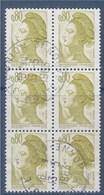 = Type Liberté De Delacroix Par Gandon, Bloc De 6 Oblitéré L'Union 13.05 1983 N°2241 - 1982-90 Liberté (Gandon)