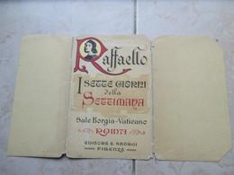 Roma Folder Originale Serie Giorni Della SETTIMANA Raffaello Editore SBROGI Firenze N.7 Cartoline Differenti - Pintura & Cuadros