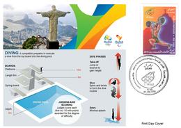 DZ Algeria 1747 Olympics Games Rio Brazil 2016 Jeux Olympiques Brésil Diving  Tauchen Plongée - Kunst- Und Turmspringen