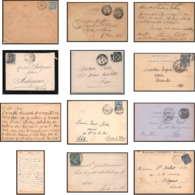 7183 Lot De 9 Lettres Bouches Du Rhone Type Sage Marseille Pour Oblitérations Des Rues - Francia