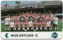 UK (Paytelco) - Football Clubs - Southampton Team Photo - 4PFLD, 4.214ex, Used - [ 4] Mercury Communications & Paytelco