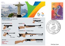DZ Algeria 1747 Olympics Games Rio Brazil 2016 Jeux Olympiques Brésil Shooting Tir Au Fusil Gewehrschießen - Shooting (Weapons)