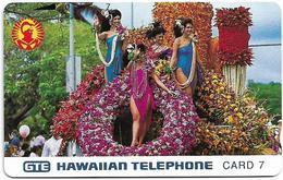 Hawaii - GTE - Tamura - Aloha Festival Week Parade 1991, 7Units, 6.500ex, Mint - Hawaii