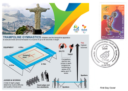 DZ Algeria 1747 Olympics Games Rio Brazil 2016 Jeux Olympiques Brésil Gymnastics Gymnastik Gymnastique Trampoline - Gymnastics