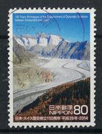 Japan Mi:06696 2014.02.06 150Years Anniv. Of The Establishment Of Diplomatic Relations Between Switzerland & Japan(used) - 1989-... Emperor Akihito (Heisei Era)
