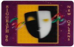 USA - INN - Siggraph '96, New Orleans, Theatre Mask (3D Card), 5.500ex, Used - Otros
