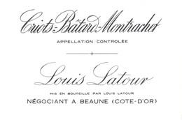 Etiquette Criots Batard Montrachet - Latour - Beaune -Cote D'Or - 21 - Bourgogne
