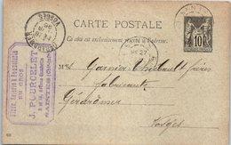 17 SAINTES  : Entiers Postaux - J. POURCELET - Bonneterie - Saintes
