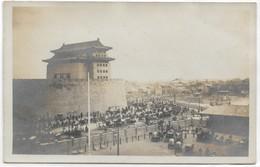 CARD CINA  PEKING  PHOTO CARROZZE -RISCIO' POUSSE-POUSSE- IN ATTESA SOTTO LE MURA -  -FP-N-2-0882-29147 - China