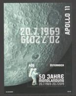 """Österreich 2019:  Block """"50 Jahre Mondlandung"""" Postfrisch ( Siehe Foto) - 1945-.... 2ª República"""