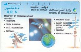 KUWAIT A-281 Optical Comm. - Communication, Satellite Dish, Radio Tower - Used - Kuwait